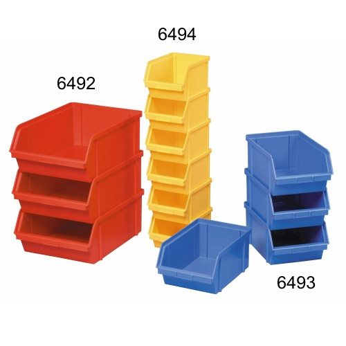 Plastic container 400x300x162 - red