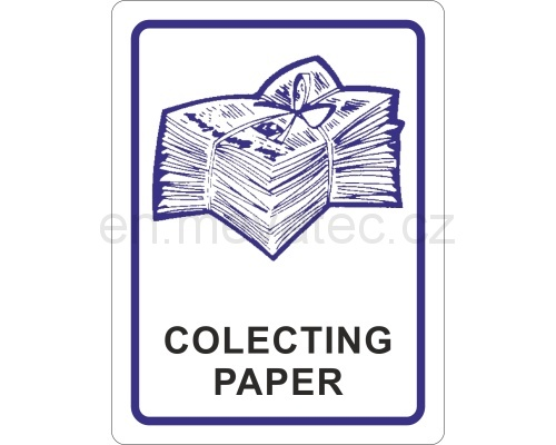 Sticker - colecting paper