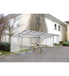 Shelter for bikes EKO  - basic section (2580x2150x1977 mm)