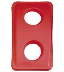 Red lid - round entry holes