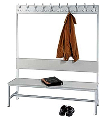 Wardrobe benches with a hanger