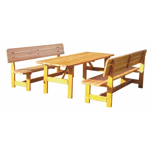 Table and bench set 2 m