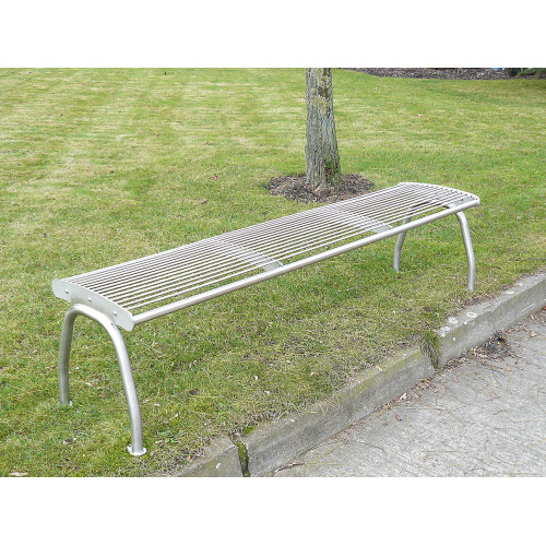 Stainless bench without backrest - 3 seats