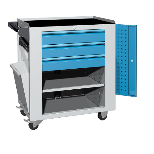 Service trolley - 1x shelf, 3x drawer