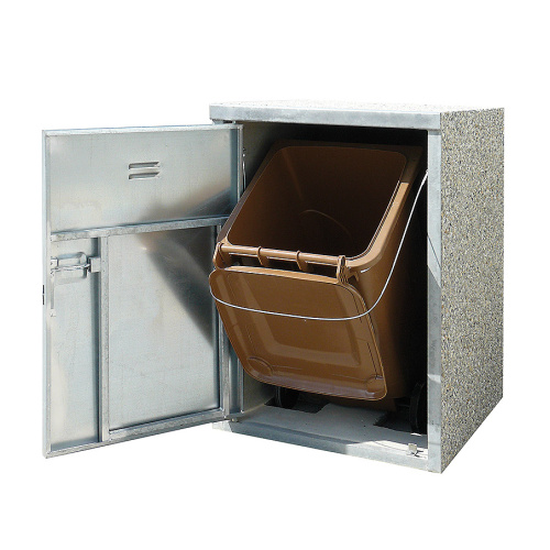 Station for waste bins - 1x plastic