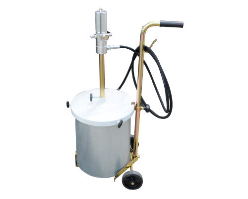 Air-operated pump for lubricants