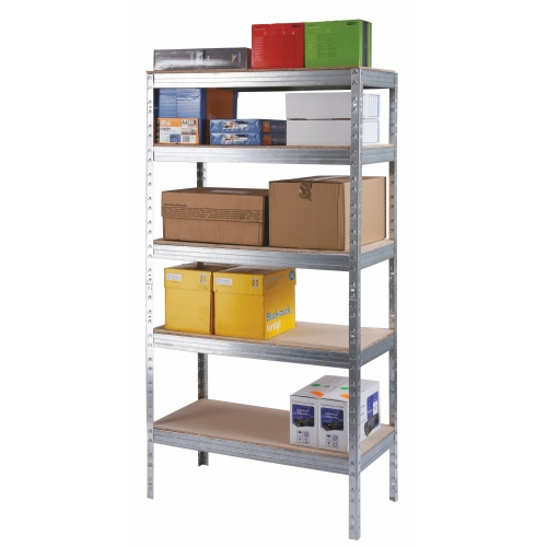 Rack without screws w. chipboard - zinc-coated 175 kg/sh.