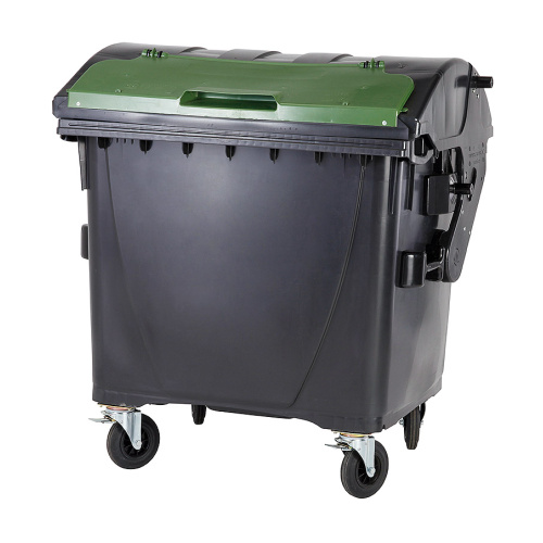 Plastic container 1100 litres - black and green V/V