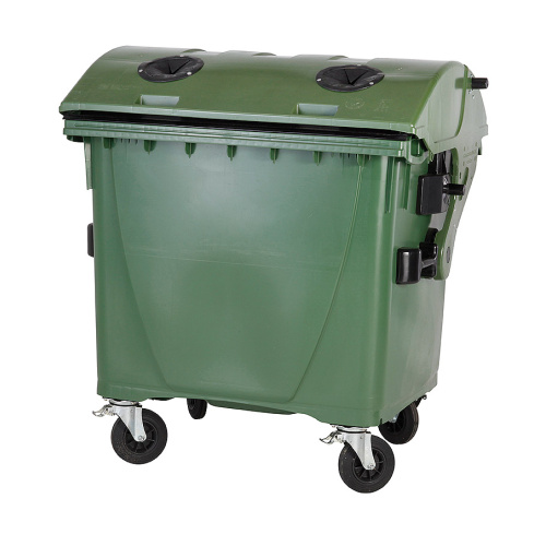 Plastic container 1100 l - glass, without a lock