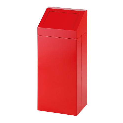 Waste bin with removable lid - red