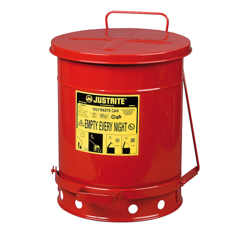 Waste bin for combustibles 34 l.