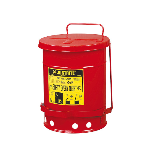 Waste bin for combustibles