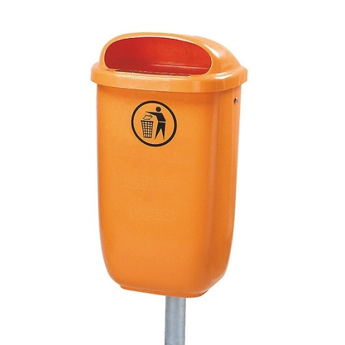 Exterior waste bin 50 l. - orange