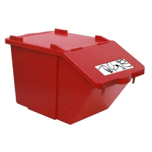 Waste sorting bin - red 45 l.