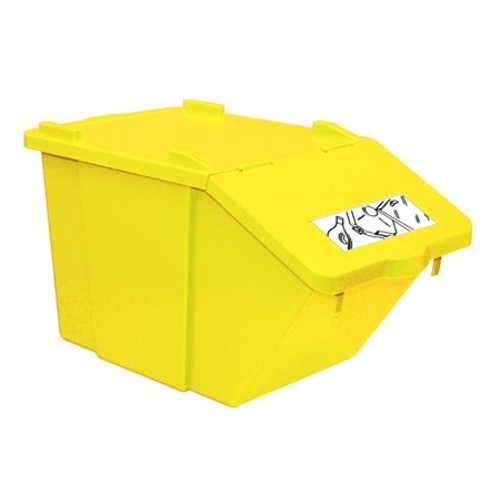 Waste sorting bin - yellow 45 l.