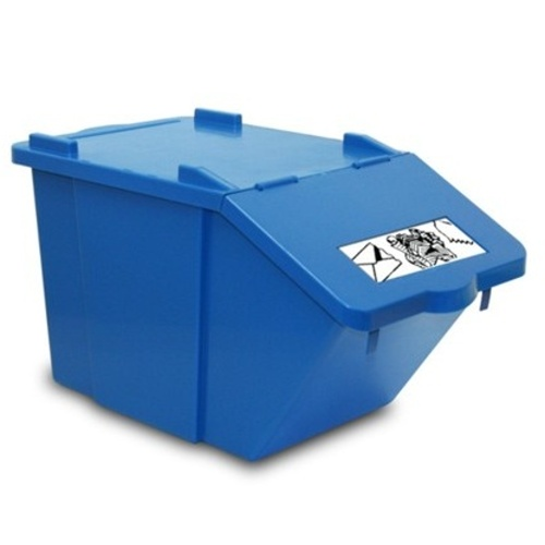 Waste sorting bin - blue 45 l.