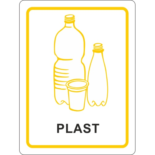 Sticker - plastic