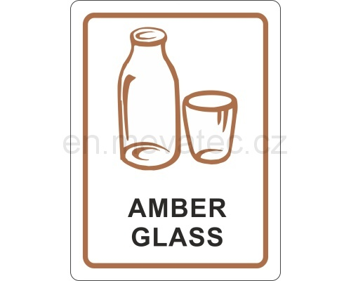 Sticker - amber glass