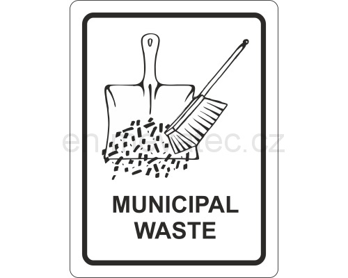 Sticker - municipal waste