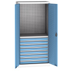 Workshop universal cabinet - 8xdrawer 1/2 perfo