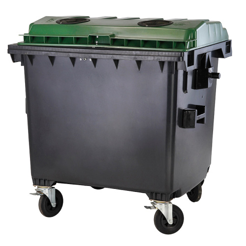 Plastic containers 1100 l. glas - with lock