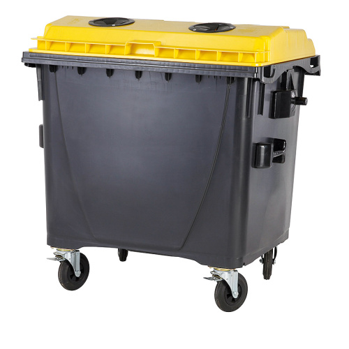 Plastic containers 1100 l. plastic- with lock