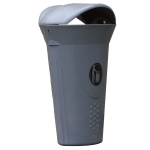 Platic waste bin LUNA with cover