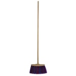 Industrial broom with stick
