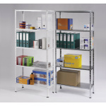 Universal rack with 5 shelves - varnished - 50 kg/shelf