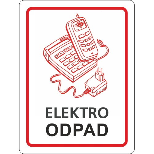 Sticker - electric waste