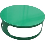Lid for concrete bin - green