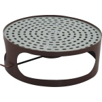 Lid for concrete bin with ashtray - brown