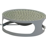 Lid for concrete bin with ashtray - gray