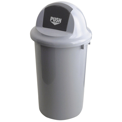 Round waste bin with swinging cover - 47 l.