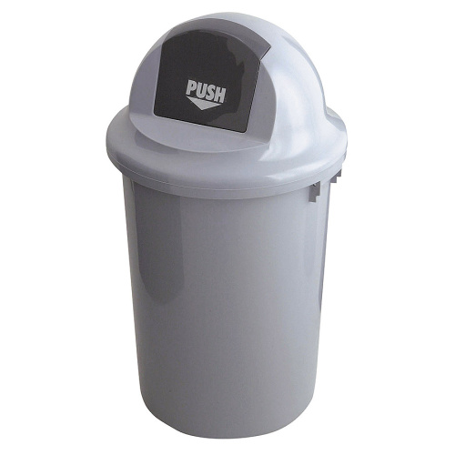 Round waste bin with swinging cover - 60 l.