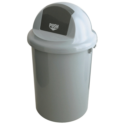 Round waste bin with swinging cover - 90 l.