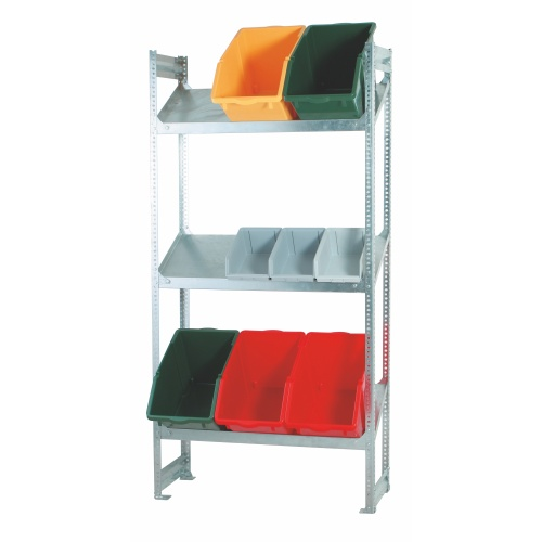 Shelf rack with sloping shelves 1000x405x2000 mm