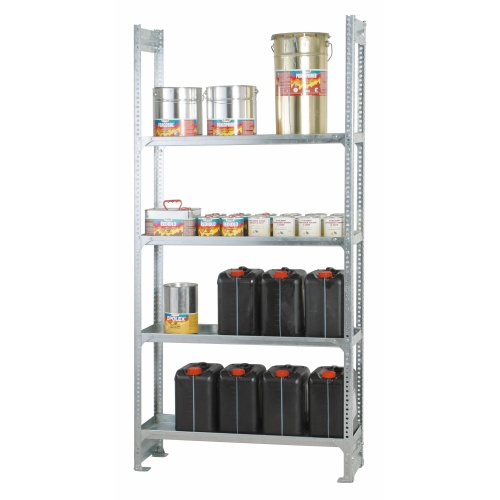 Shelf rack with tray shelves 1000x305x2000