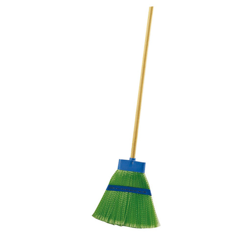 Plastic broom VERDE (broom with handle)