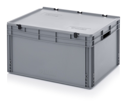 Plastic EURO box 800x600x420 mm with a lid