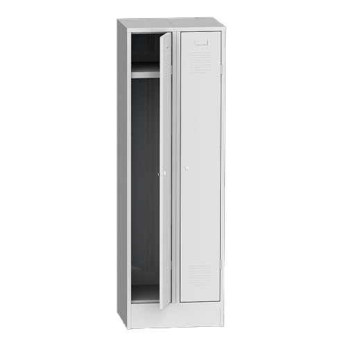 Wardrobe on a base 600 mm - grey/grey