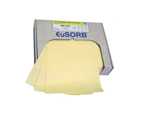 Sorption mats yellow,firmed,light,42 x 50 cm, 200 pcs/packing