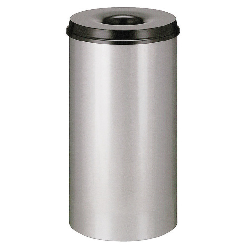 Self-extinguishing bin 50 l grey-black