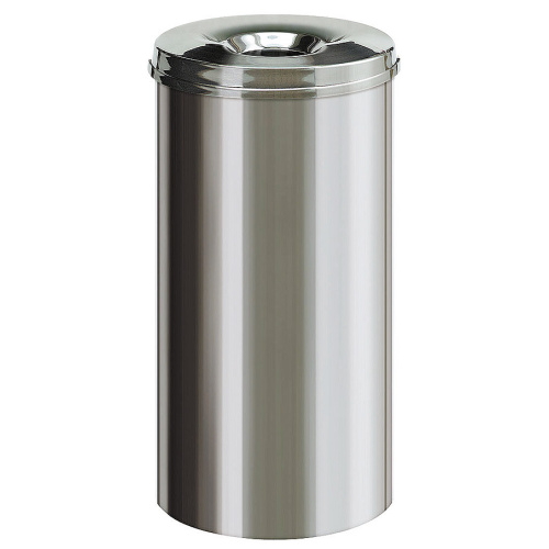 Self-extinguishing bin 50l- stanless