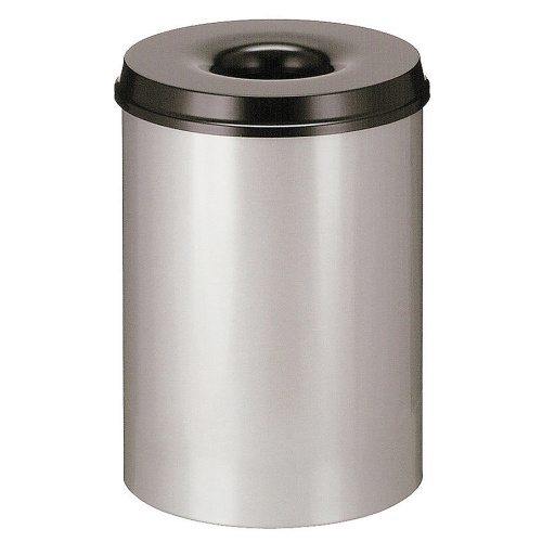 Self-extinguishing bin 30 l grey-black