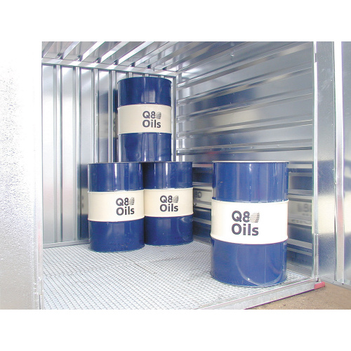 Storage container with a dripping tank