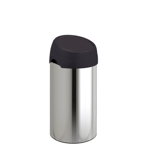 Waste bin 60 l. - chrome/black