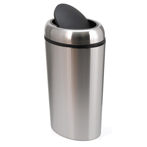 Round waste bin - chrome