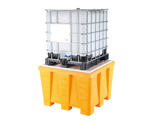 Plastic reservoir under IBC container