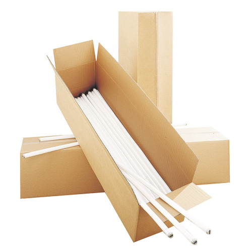 Cardboard box for fluorescent tubes